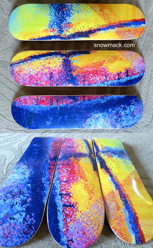 Skateboard Triptych for
