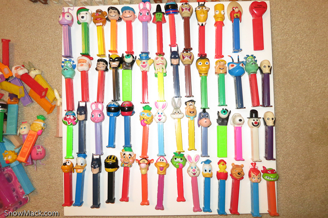 Snow Mack's Pez collection